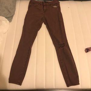 Dark brown/burgundy jeans